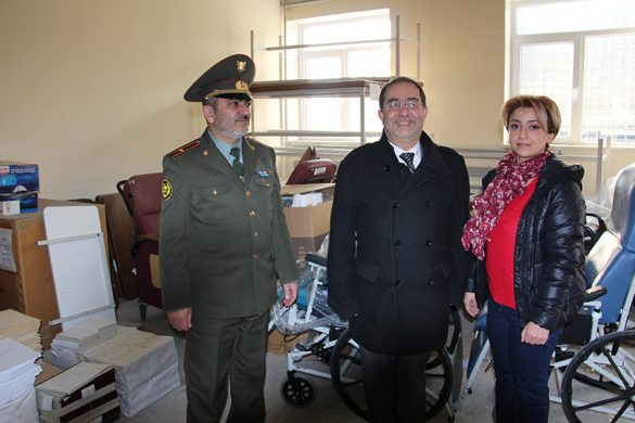 Captain Nver Arakelyan, Harout Nercessian and Lusine Ohanyan