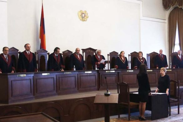 Final hearings of the Armenian National Congress-People's Party of Armenia's case took place at the RA Constitutional Court