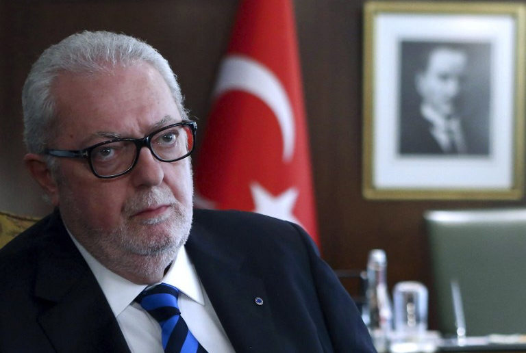 President of the Council of Europe Parliamentary Assembly Pedro Agramunt is pictured during a meeting with Turkish European Union Affairs Minister and Chief Negotiator in Ankara, on June 7, 2016. / AFP PHOTO / ADEM ALTAN