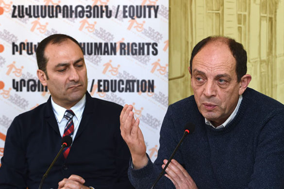 A public discussion on the topic of 'Human rights in Armenia, 2017. Protecting what is permitted' took place in 'Article 3' press club