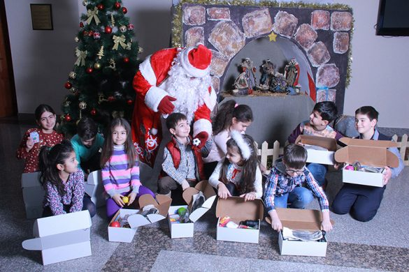 Christmas in Armenia - Children and Santa