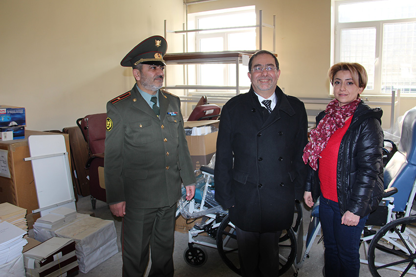 Captain Nver Arakelyan, Harout Nercessian and Lusine Ohanyan