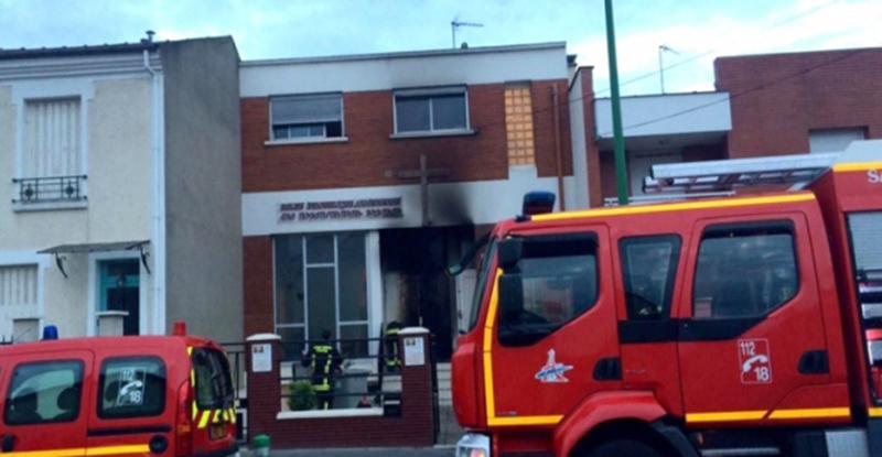 Alforville-Church-Fire