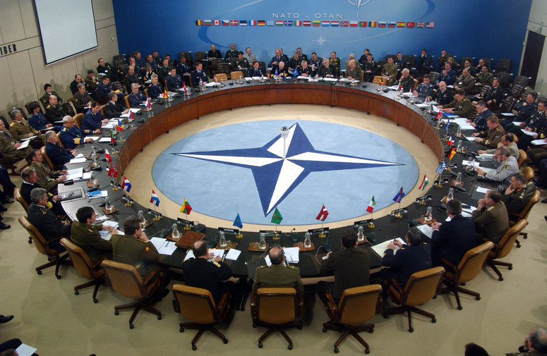 b040804a 8 April 2004 2nd Meeting of the Military Committee in Permanent Session in 2004 Overview view of the meeting in session.