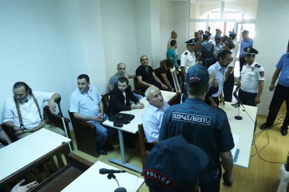 Hearings of 'Sasna Tsrer' group's 12 members' case took place at the Court of First Instance of Erebuni and Nubarashen Districts
