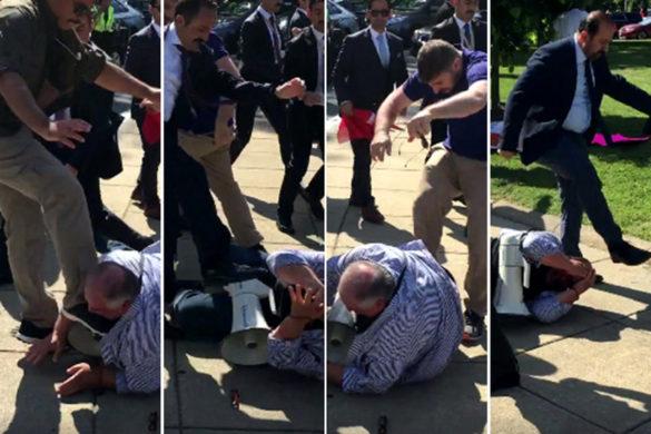 protest assault