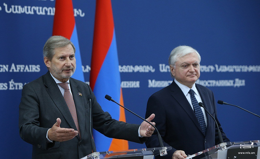 RA Minster of Foreign Affairs Edward Nalbandian and Commissioner for European Neighborhood Policy and Enlargement Johannes Hahn gave a joint press conference