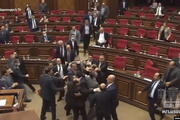 parliament-brawl