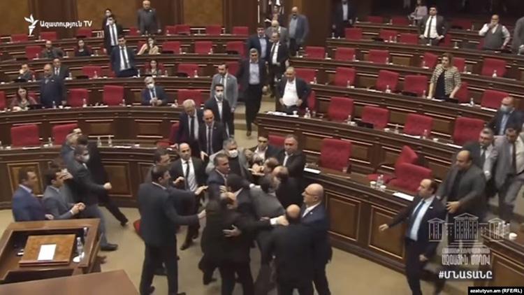parliament-brawl