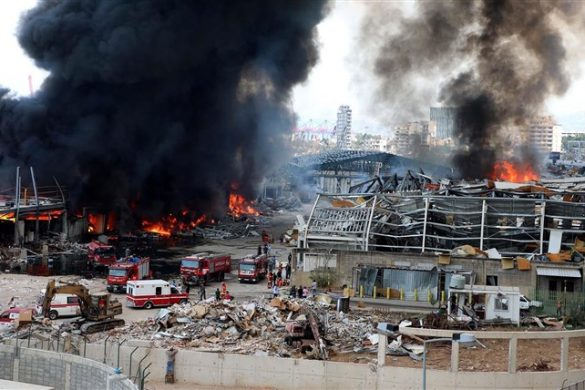 beirut port fire
