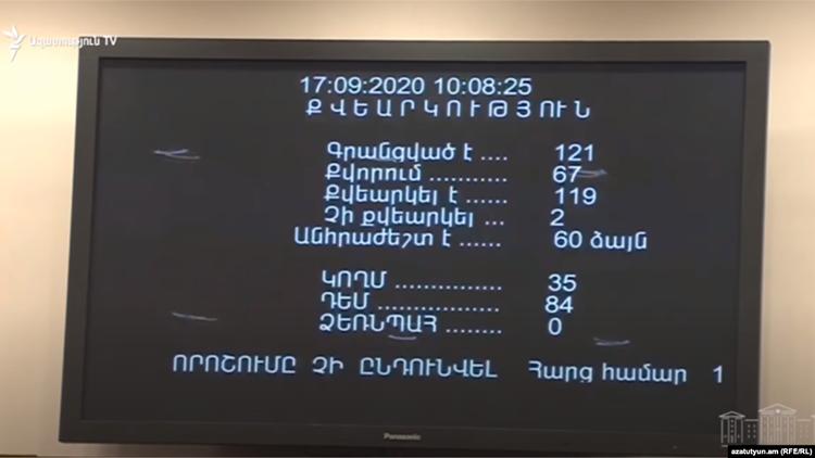 parliament vote
