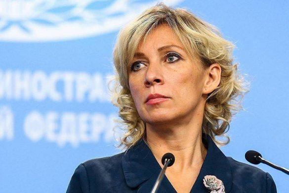 MOSCOW, RUSSIA - NOVEMBER 14, 2019: Russian Foreign Ministry Spokeswoman Maria Zakharova during a press briefing on Russia's current foreign policy. Alexander Ryumin/TASS  Ðîññèÿ. Ìîñêâà. Îôèöèàëüíûé ïðåäñòàâèòåëü ÌÈÄ Ðîññèè Ìàðèÿ Çàõàðîâà âî âðåìÿ áðèôèíãà ïî òåêóùèì âîïðîñàì âíåøíåé ïîëèòèêè. Àëåêñàíäð Ðþìèí/ÒÀÑÑ