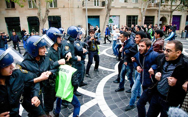 azeri protests