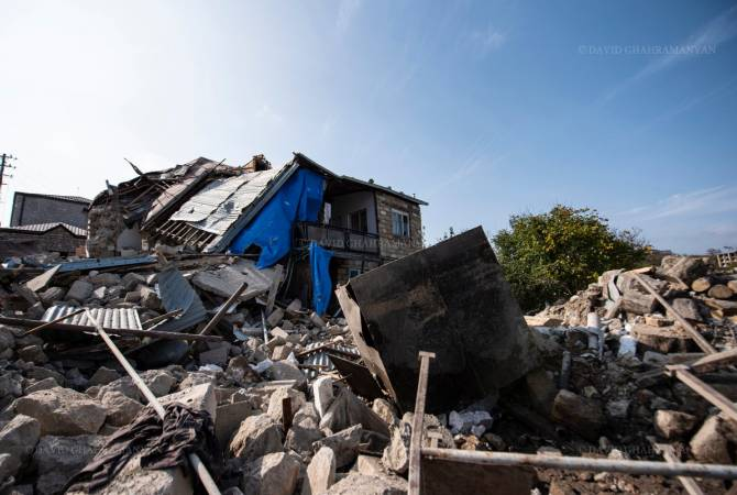 artsakh destroyed home