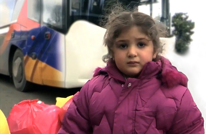 Little girl returning to Artsakh
