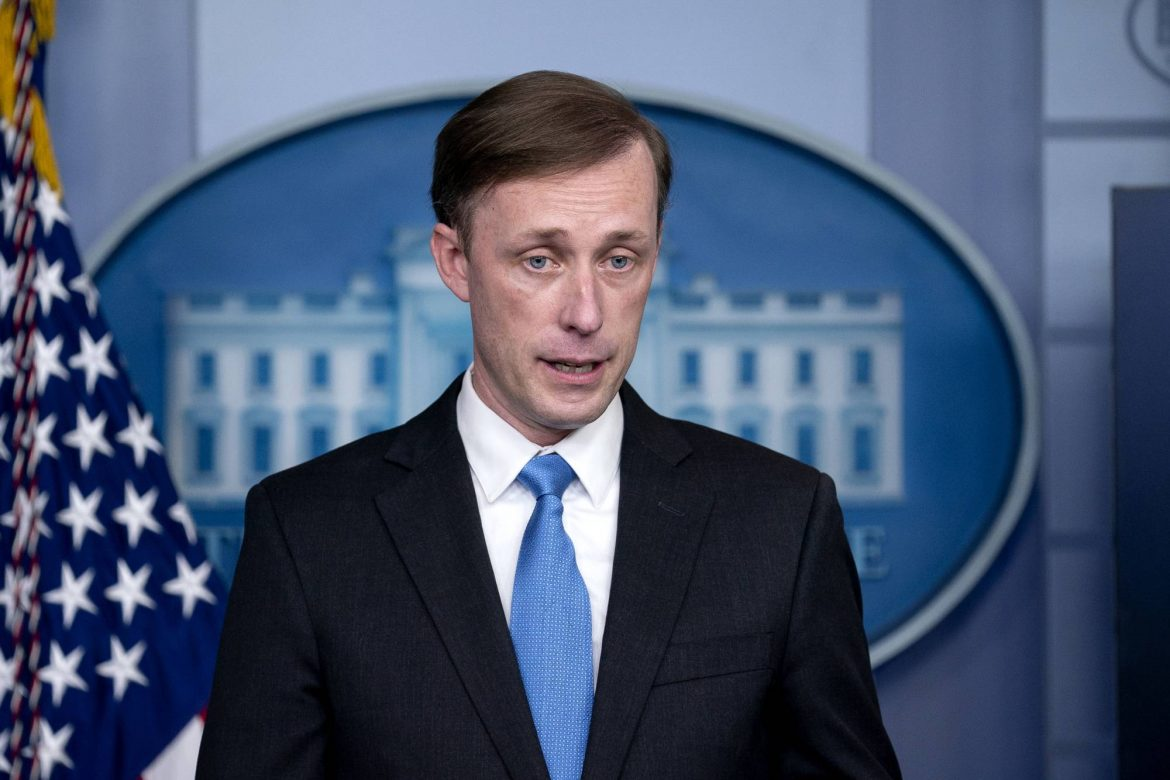National security advisor Jake Sullivan speaks to reporters in the James S. Brady Press Briefing Room at the White House in Washington on Thursday, Feb. 4, 2021. (Stefani Reynolds/The New York Times)