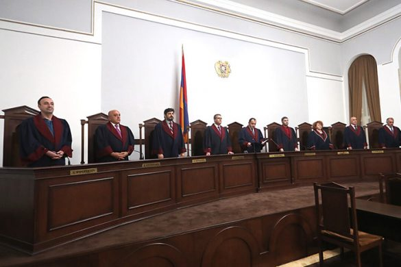 President of the RA Constitutional Court Arman Dilanyan announces the decision on the results of the early parliamentary elections in Armenia