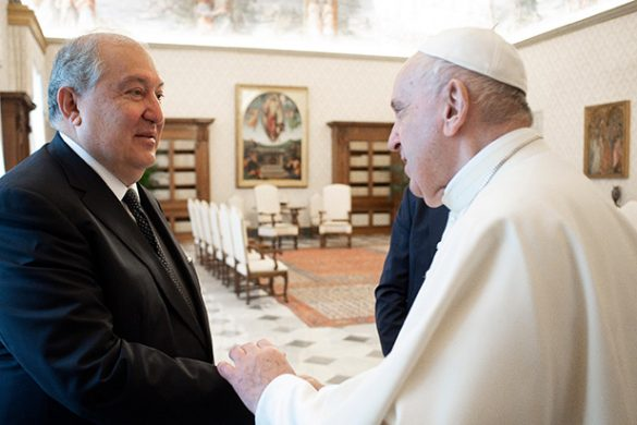 president sarkissian-pope francis