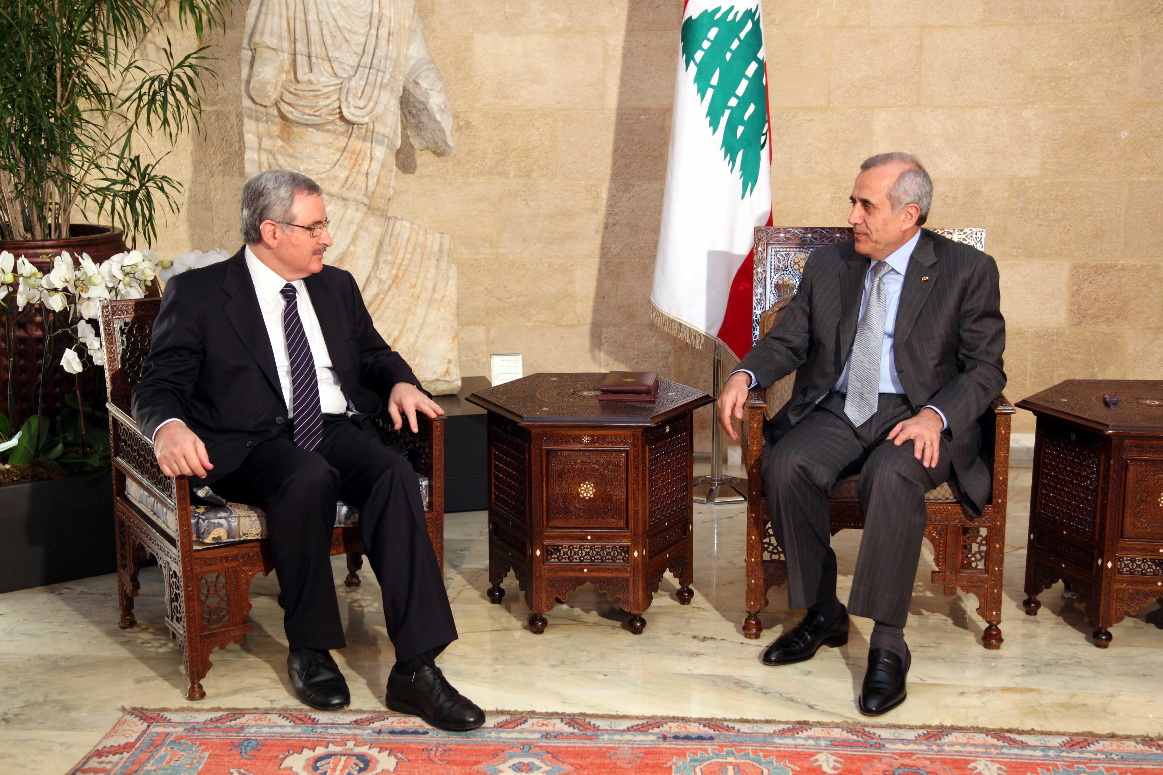 President Michel Sleiman Meets Minister Jean Oghasepian