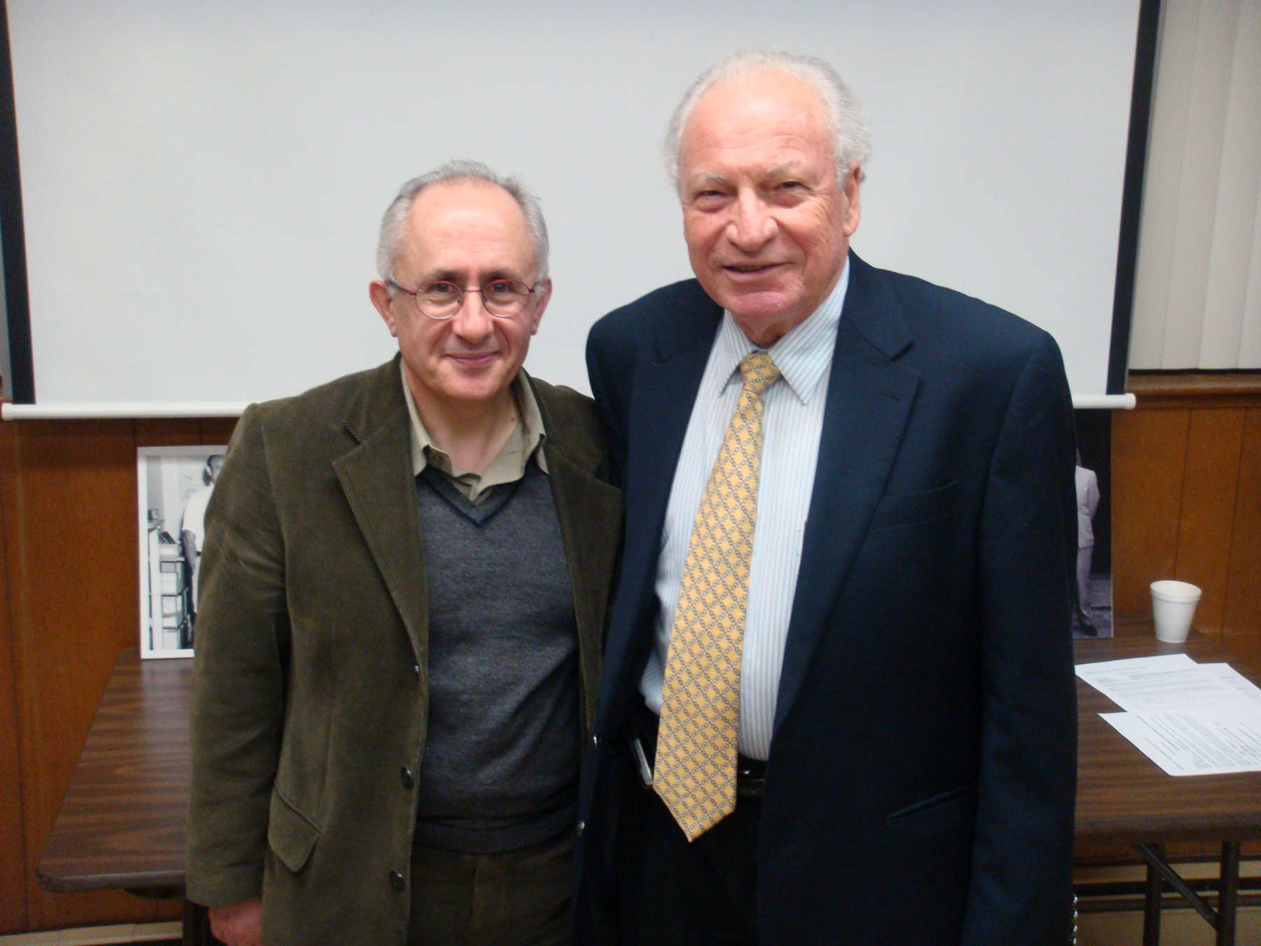Taner Akçam and NAASR Chairman Raffi P. Yeghiayan.
