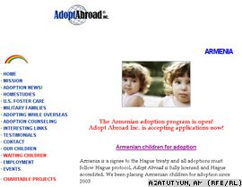 U.S. -- A screenshot of the website of the Adopt Abroad agency.