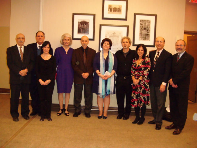 Armenian Center at Columbia University members with Dr. Avdoyan in the center
