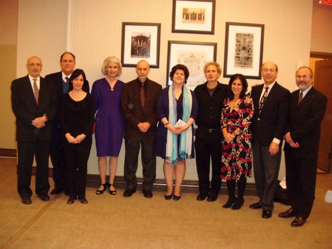 Armenian Center at Columbia University members with Dr. Avdoyan in the center