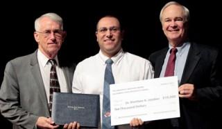 President John D. Welty, Dr. Matthew Ari Jendian, and J. Michael McGowan