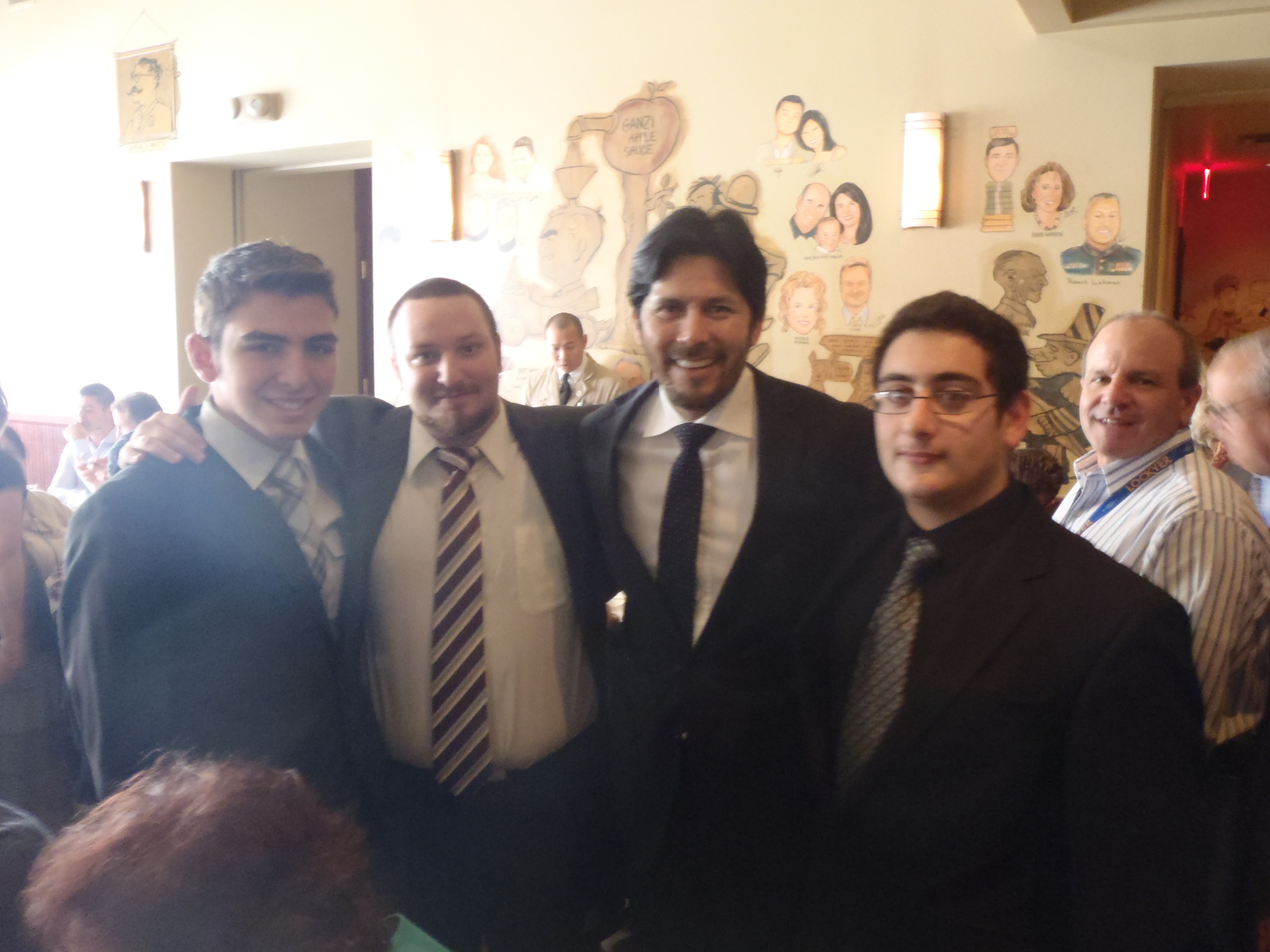 Armenian Council Board Member Harry Unell Along with Gaidz Youth Organization Members and Senator Kevin De León's