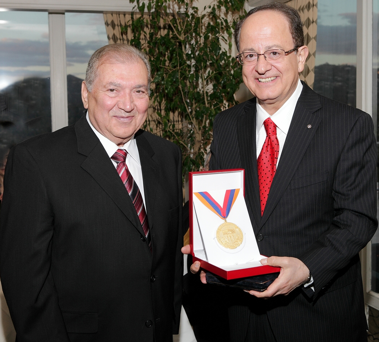 Mr. Jerry Turpanjian and USC President Dr. C.L. Max Nikias