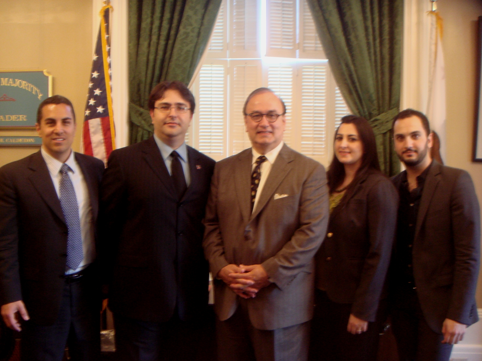 ACA members with California State Assembly Majority Leader Charles Calderon and Assistant Speaker Pro Tem Mike Gatto