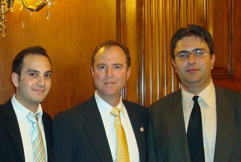 Congressman Adam Schiff with ACA representatives  Chris Garsevanian and Sevak  Khatchadorian