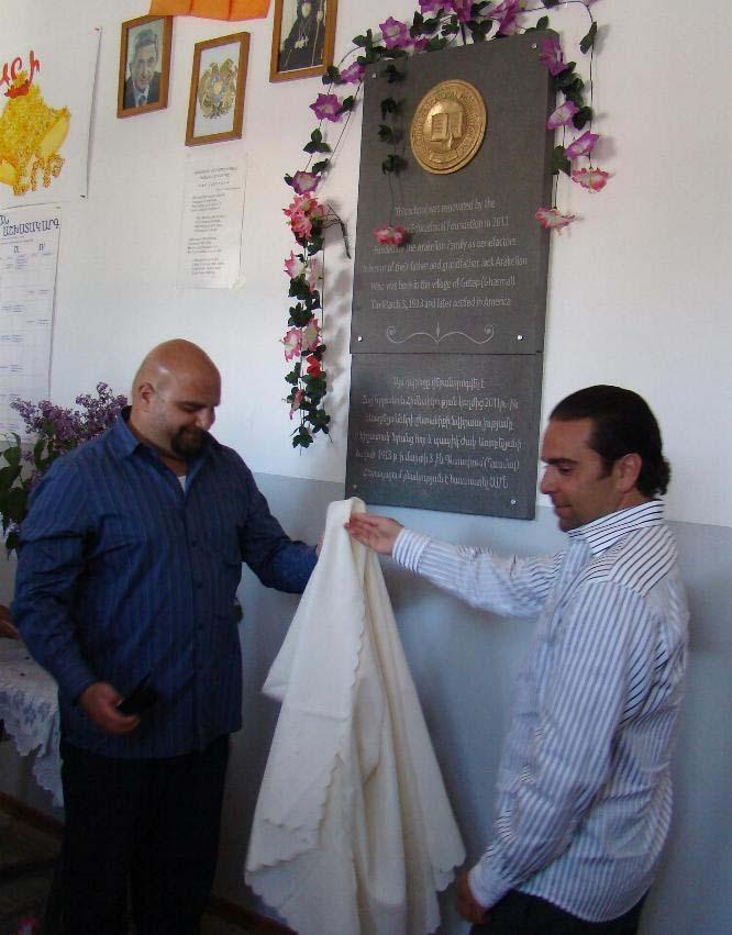 Arakelians at Getap School opening