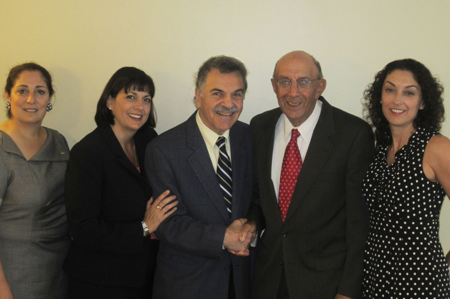 L to R: Phyllis Dohanian, Director of AMAA Development and Marketing; Jeanmarie Papelian, Co-Chair of AMAA Development Committee; Edward Avedisian, AMAA Board member and Avedisian School Benefactor; Bob Mirak and Jill Mirak Kew of the Mirak Foundation.