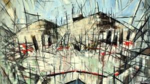 Arthur Pinajian, Overlook Mountain, fragment, Woodstock, New York, 1955; oil on canvas