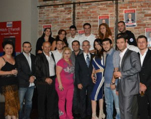 Councilmember-elect Mitch O'Farrell and Armenian American community leaders and members.