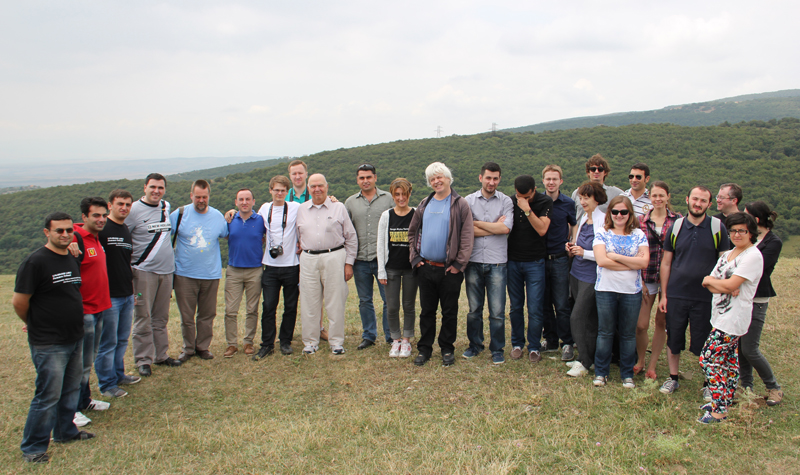 Georgian Republic seminar participants on the Kajori battlefield