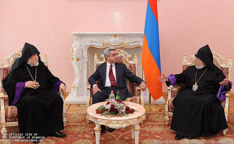 Serzh-Sargsyan-Garegin-II-Aram-I