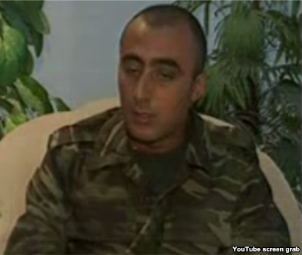 Hakob Injighulian, an Armenian POW, paraded on Azerbaijani television