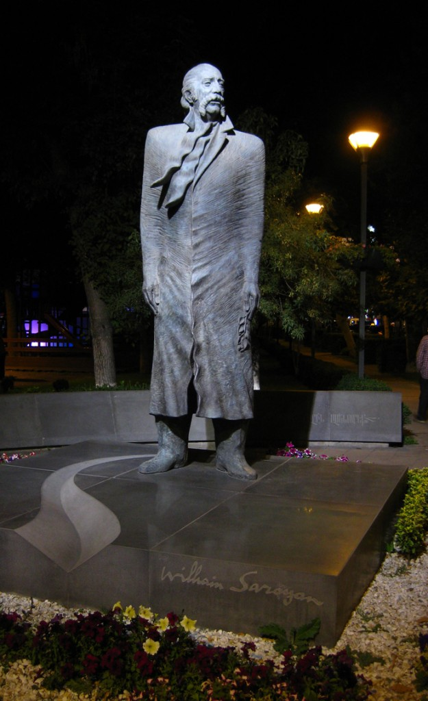 The statue of William Saroyan in Yerevan