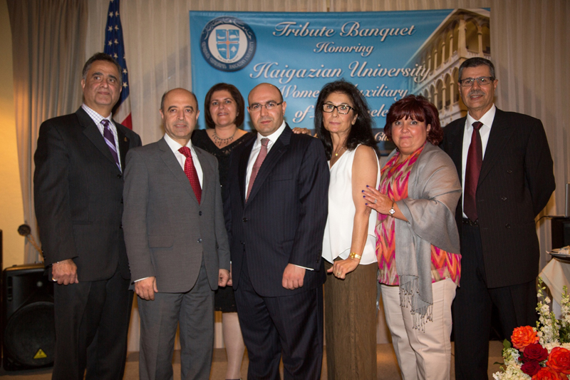 ALUMNI ASSOC MEMBERS WITH PRESIDENT HAIDOSTIAN