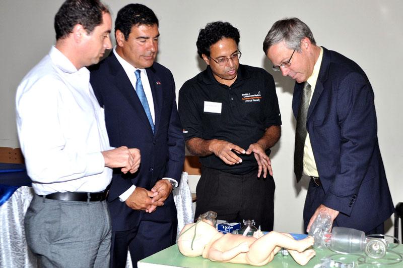 Dr Edward Seferian & Randy Sapah Gulian with Ambassador John A. Heffern