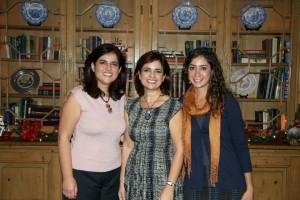 (L-R): Arda Melkonian, Doris Melkonian and Anoush Suni
