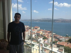 Garen Kazanc on the Zohrab's balcony