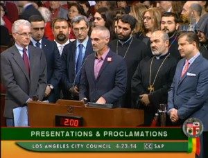 Councilmember Mitch O'Farrell addressing the Los Angeles City  Council