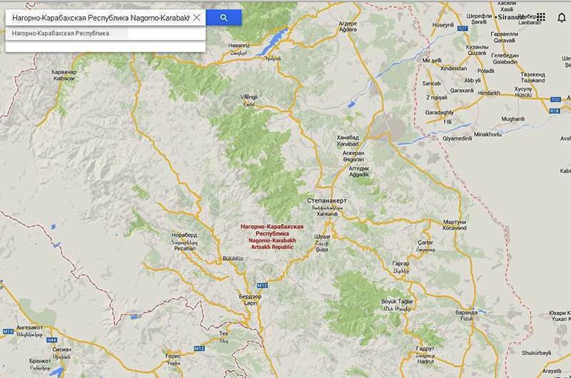 Artsakh-Google-Map