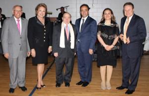 From (l-r) Dr. and Mrs. Raffy and Vicki Hovanessian, Hirant Gulian, Mrs. Reyhan Baydemir, Mayor Osman Baydemir and Dr. Ohan Karatoprak