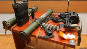 Weapons seized by Karabakh's Defense Army from Azerbaijani  forces on 31 July