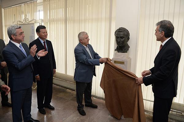 Unveiling of Tigran Petrosian's sculpture