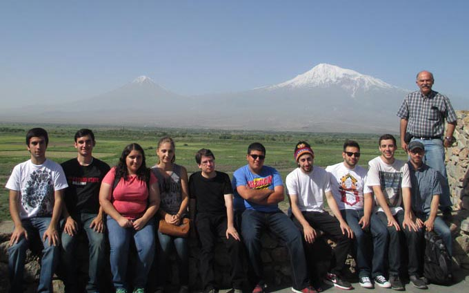 Armenian Studies group at Khor Virap